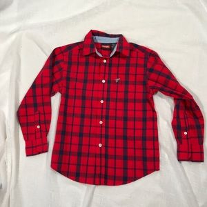 Wrangler boys plaid shirt Sz 6/7